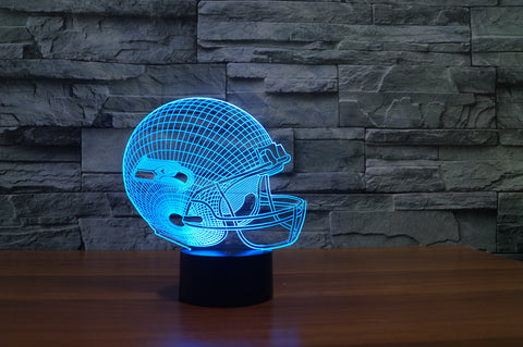 "Seattle Seahawks ""Helmet"" - 3D LED Lamp/Night Light"