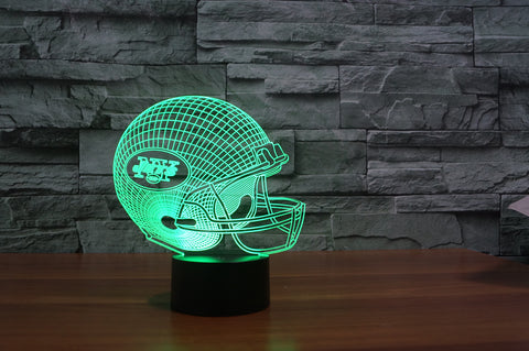 "New York Jets ""Helmet"" - 3D LED Lamp/Night Light"