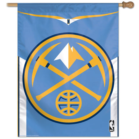 "Denver Nuggets 27"" x 37"" Vertical Banner Flag"