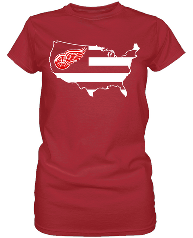 Detroit Red Wings - Broad Stripes
