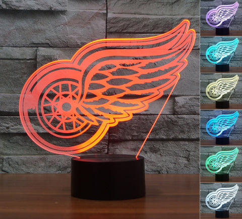 "Detroit Red Wings ""Logo"" - 3D LED Lamp/Night Light"