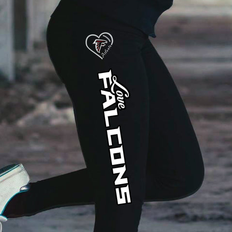 Love Atlanta Falcons Cotton Leggings
