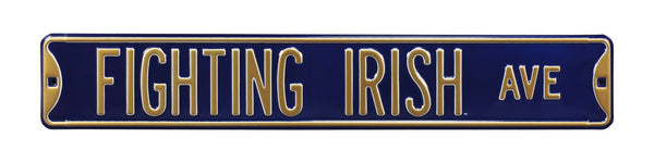 Notre Dame Fighting Irish Ave Sign