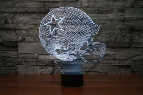 "Dallas Cowboys ""Helmet"" - 3D LED Lamp/Night Light"