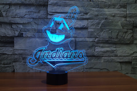 "Cleveland Indians ""Logo"" - 3D LED Lamp/Night Light"