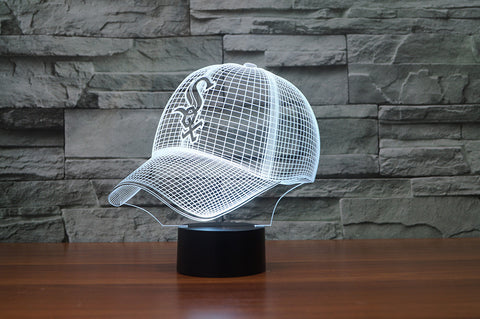 "Chicago White Sox ""Baseball Cap"" - 3D LED Lamp/Night Light"