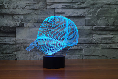 "Detroit Tigers ""Baseball Cap"" - 3D LED Lamp/Night Light"