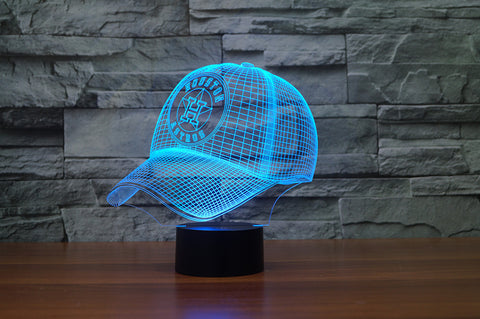 "Houston Astros ""Baseball Cap"" - 3D LED Lamp/Night Light"
