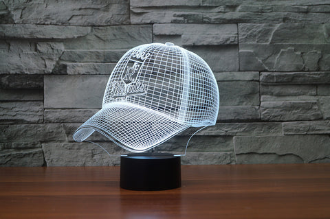 "Kansas City Royals ""Baseball Cap"" - 3D LED Lamp/Night Light"