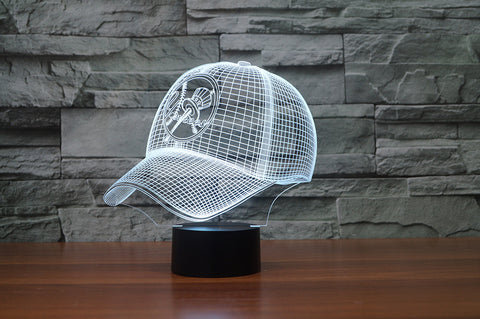 "New York Yankees ""Baseball Cap"" - 3D LED Lamp/Night Light"