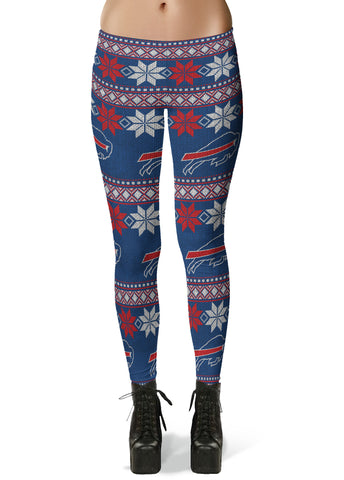 Buffalo Bills Ugly Knit Leggings