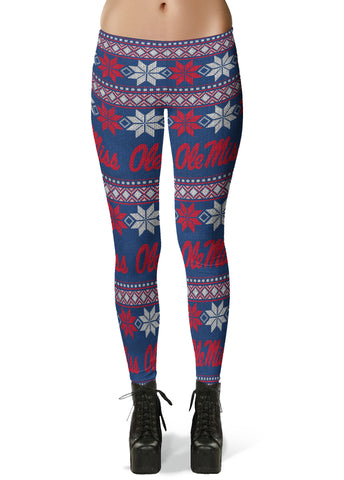 Mississippi Rebels Ugly Knit Leggings