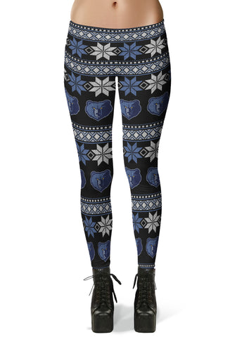 Memphis Grizzlie Ugly Knit Leggings