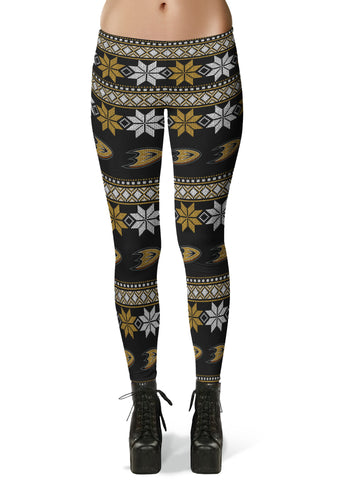 Anaheim Ducks Ugly Knit Leggings