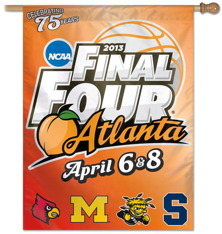 "Final Four 4 Team Names  27"" x 37"" Vertical Banner Flag"
