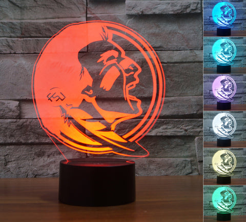 "Florida State Seminoles ""Logo"" - 3D LED Lamp/Night Light"