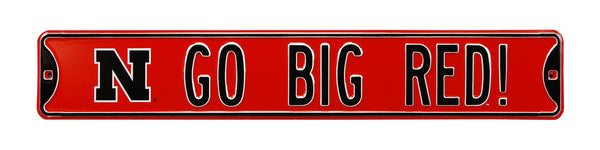 Go Big Red Street Sign