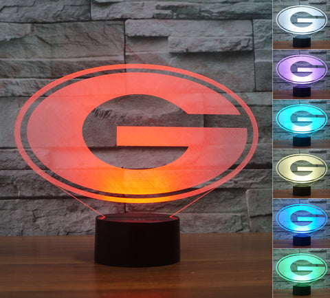 "Georgia Bulldogs ""Logo"" - 3D LED Lamp/Night Light"