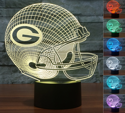 "Green Bay Packers ""Helmet"" - 3D LED Lamp/Night Light"