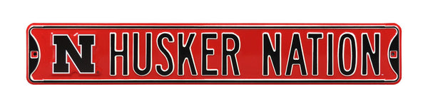 Husker Nation Street Sign