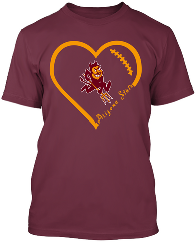 Arizona State Sun Devils Heart