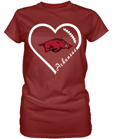 Arkansas Razorbacks Heart