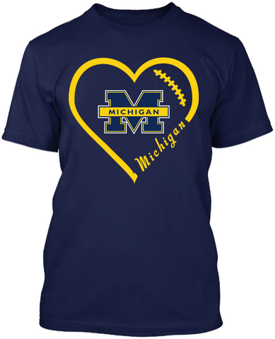 Michigan Wolverines Heart