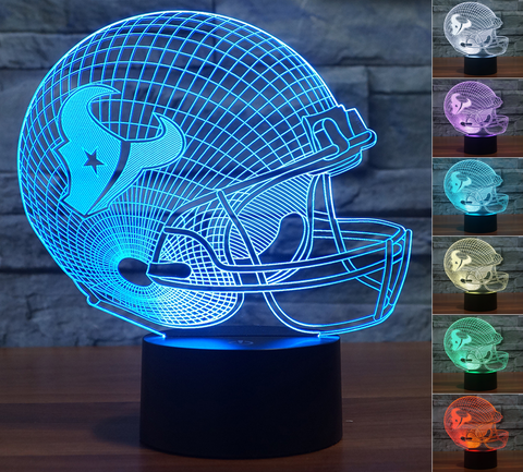 "Houston Texans ""Helmet"" - 3D LED Lamp/Night Light"