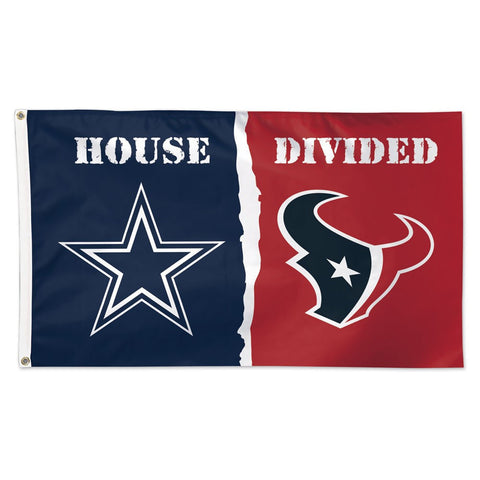 "Dallas Cowboys & Houston Texans ""A House Divided"" Deluxe 3' x 5' Flag"