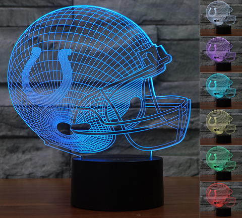 "Indianapolis Colts ""Helmet"" - 3D LED Lamp/Night Light"