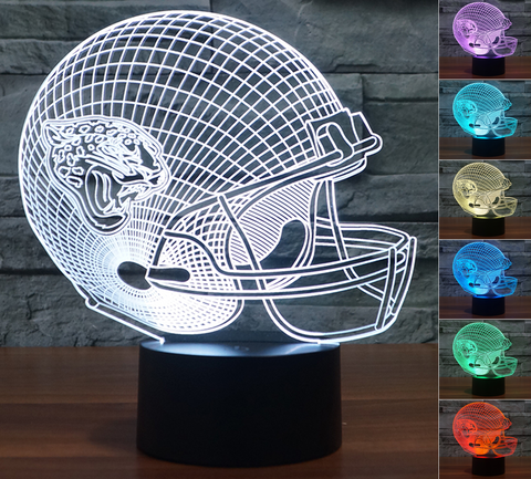 "Jacksonville Jaguars ""Helmet"" - 3D LED Lamp/Night Light"