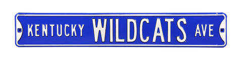 Kentucky Wildcats Ave Sign