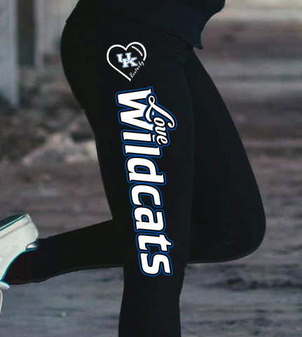 Love Kentucky Wildcats Cotton Leggings