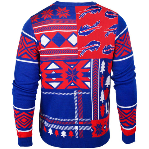 Buffalo Bills Patches Ugly Sweater
