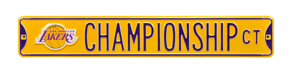 Los Angeles Lakers Championship CT Sign