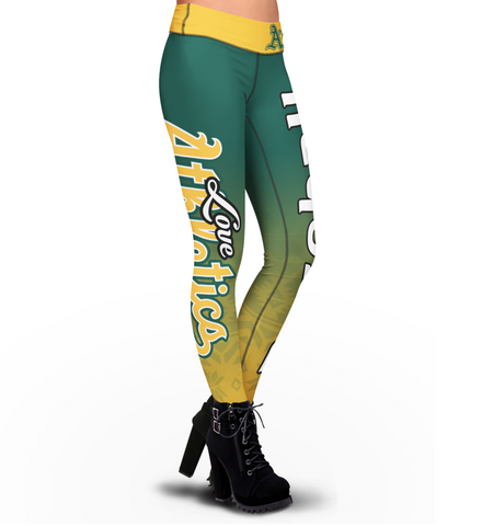 Love Oakland Athletics Leggings