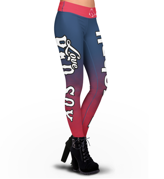 Love Boston Red Sox Leggings