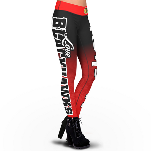 Love Chicago Blackhawks Leggings