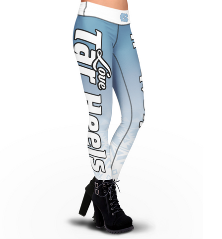 Love North Carolina Tar Heels Basketball Leggings