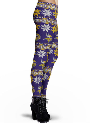 Minnesota Vikings Ugly Knit Leggings