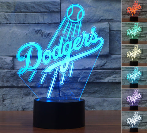 "Los Angeles Dodgers ""Logo"" - 3D LED Lamp/Night Light"