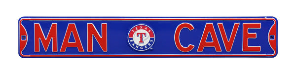 Texas Rangers Man Cave Sign