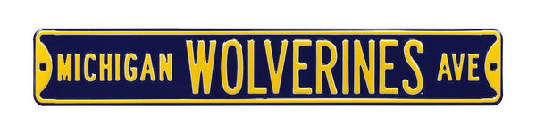 Michigan Wolverines Ave Sign