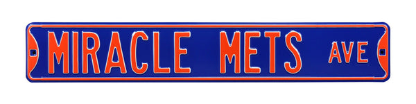 Miracle Mets Ave Street Sign