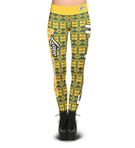 Green Bay Packers Aztec Print Leggings