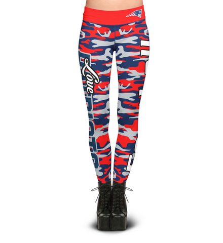 New England Patriots Camo Print Leggings
