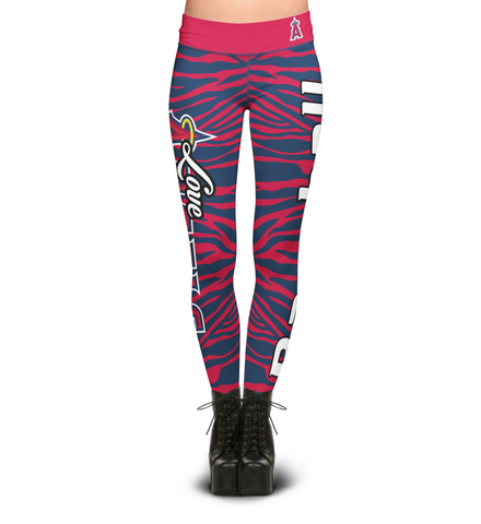 Los Angeles Angels Zebra Print Leggings