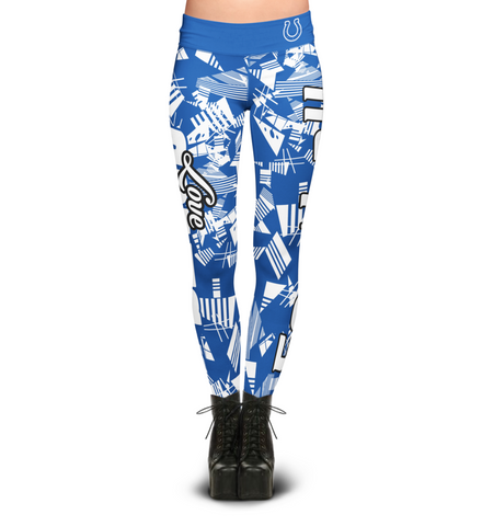 Indianapolis Colts Geometric Print Leggings