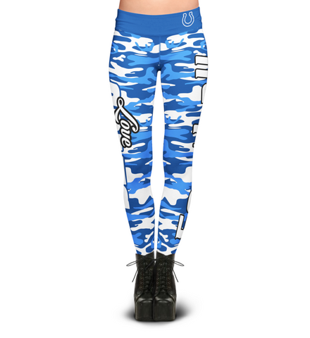 Indianapolis Colts Camo Print Leggings