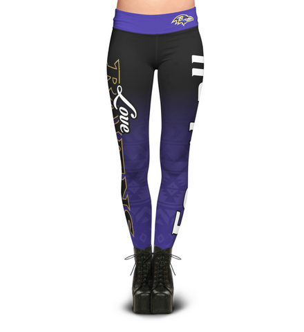 Love Baltimore Ravens Leggings